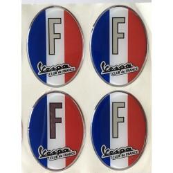 4X Autocollants France Dômé